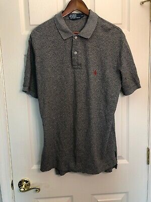 Polo By Ralph Lauren Men Casual Formal Golf Polo Shirt Size L Gray
