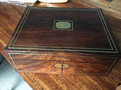 Exceptionally Original Georgian Rosewood Writing Slope Box