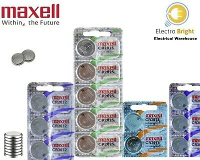 Maxell CR2032 CR2016 CR2025 3V High Lithium Button Cell Battery Made In Japan