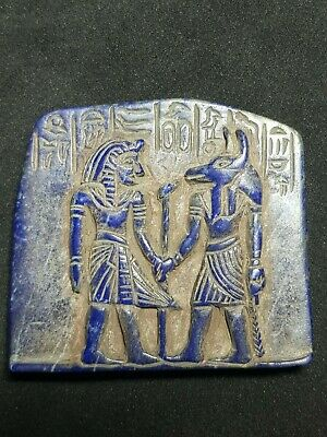 Egyptian very old amyzing lapiz lazuli tile relief