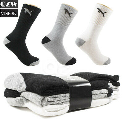 3 -12 Pairs Mens Pattern Sports Work Athletic Crew Cotton Socks Size 9-11 10-13