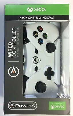 Official Xbox One White Wired Controller - Xbox One & Windows 10 Game Pad PowerA