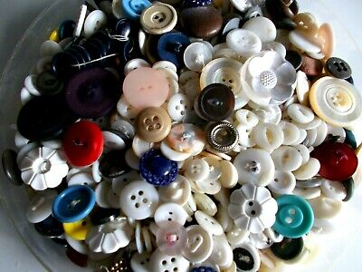 Over 1.5 Pounds of Vintage Buttons - Hundreds - LOTS of Mother of Pearl and Sets