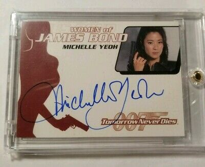Michelle Yeoh James Bond Wai Lin Autograph Auto Card WA17 Tomorrow Never Dies