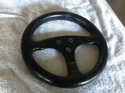 Period classic original single seater steering wheel, leather. Approx 10inch