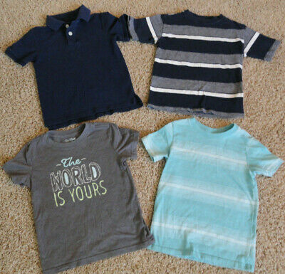 Mixed Lot Of 4 Boys Short Sleeve Shirts - Size 5T, 4/5 -Cat & Jack + More -Clean
