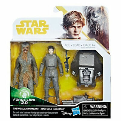 NEW! Star Wars Han Solo & Chewbacca Mimban Force Link 2.0 Action Figure
