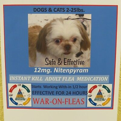 Flea Pills Instant 12mg Dogs 2-25lbs. (12) pack SALE $10.49 GREAT REVIEWS!!