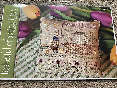 With Thy Needle & Thread - Basketful of Spring Time - Cross Stitch Pattern/Chart
