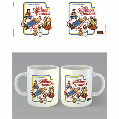 Steven Rhodes - Let's Summon Demons Mug x 2 BRAND NEW (Set of 2 Mugs)