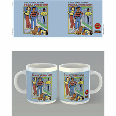 Steven Rhodes - Fetal Position Mug x 2 BRAND NEW (Set of 2 Mugs)