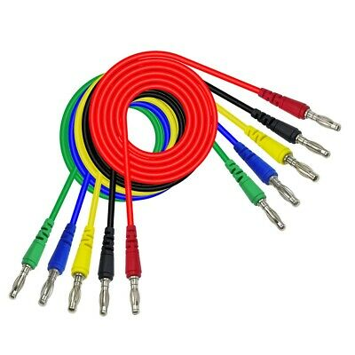 Cleqee P1043 1M 5color Double 4mm Banana plug Test Leads For Multimeter Measure