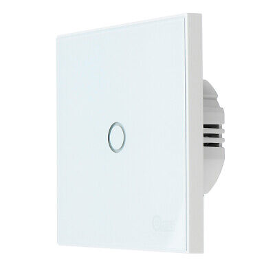 Coolcam Z-Wave 1 Gang Smart EU Wall Light Switch Touch Panel 868.4MHz 300 & 500