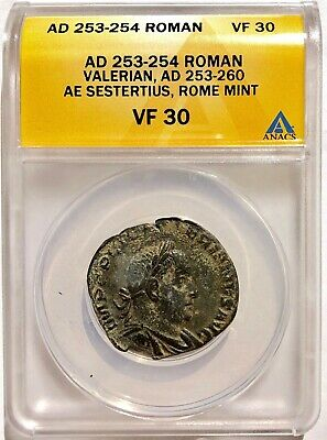 VALERIAN I  (253 AD) Sestertius Rome Mint - Captured By Shapur I SASANIAN KING