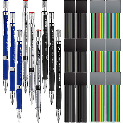 Jovitec 21 Pieces 2.0 mm Mechanical Pencil Set, 9 Pieces Automatic Pencils and