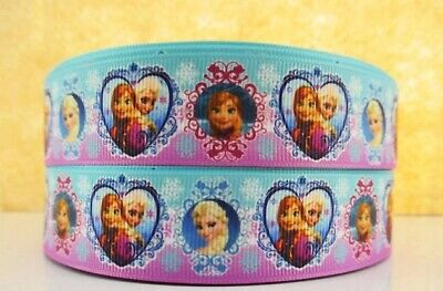 Grosgrain Ribbon Frozen #3 25mm (1m, 2m or 5m)