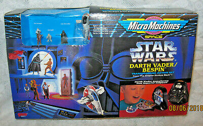 Star Wars Micro Machines DARTH VADER BESPIN Transforming Playset NEW-some wear