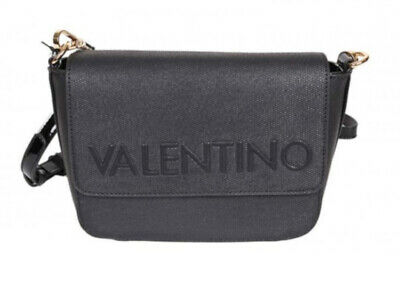 Valentino Magnolia Pattina Nero, Women's Bag Shoulder Bag Crossover Handbag