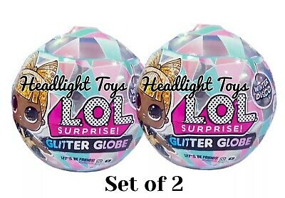 2 LOL Surprise Doll Winter Disco Series Glitter Globe Ball Holiday OMG Preorder