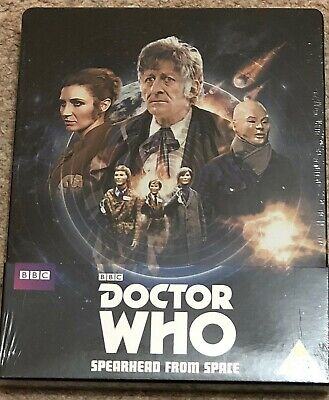 Doctor Who Spearhead From Space Steelbook Uk Edition Oop New & Sealed