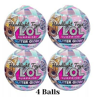 4 LOL Surprise Doll Winter Disco Series Glitter Globe Balls Holiday OMG Preorder