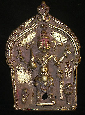Antique Hindu Traditional Indian Ritual Plaque of God Virabhadra Tribal Rare #5