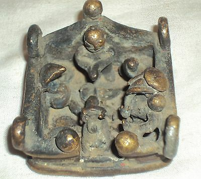 Antique Hindu Traditional Indian Ritual Bronze Rare Family Of God Shiva Rare ##6