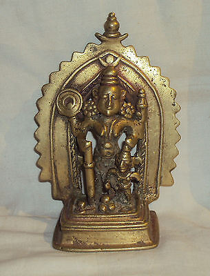 Antique Hindu Traditional Indian Bronze Statue Goddess Durga Tribal Collectible