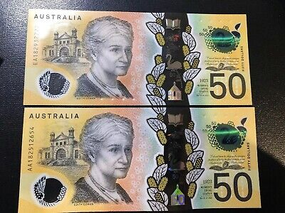 FIRST PREFIX -  2018 $50 note - New Generation AA18, Price Is For 1 Note Only!
