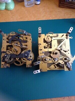1 Perivale + 1 Haller Clock Movements For Spares Repair Parts Only