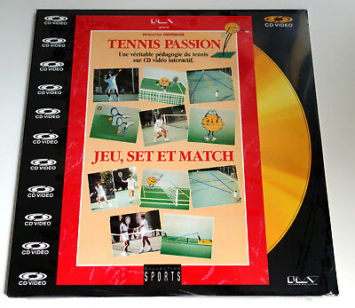 TENNIS PASSION | JEU, SET ET MATCH | PAL | LASERDISC still sealed