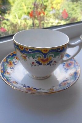 Royal Albion Tea Cup & Saucer Art Deco Style China Vintage British