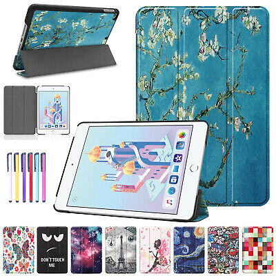 For iPad Mini 2019 Case 5th Gen Smart Magnetic Folded Leather Patterned Cover