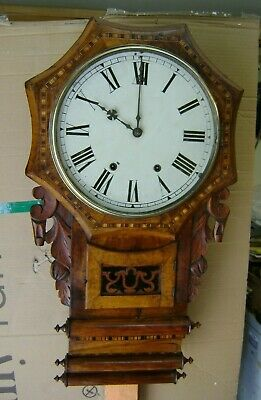Antique American Wall Clock- 8 Day.