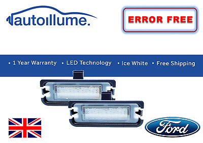 Ford Mustang LED License Number Plate Light Units 2015+ Mk6 Canbus Error Free GT