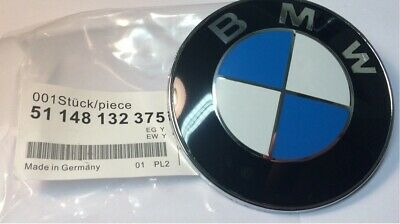 BMW Car 82mm Emblem Chrome Front hood or Rear Trunk