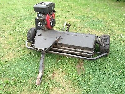 PEDESTRIAN FLAIL MOWER trailored operators seat Self propelled mower