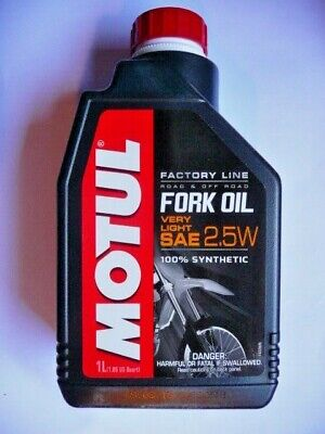 Huile hydraulique fourches. Fork Oil Very Light SAE 2,5W synthetic (1L) - MOTUL