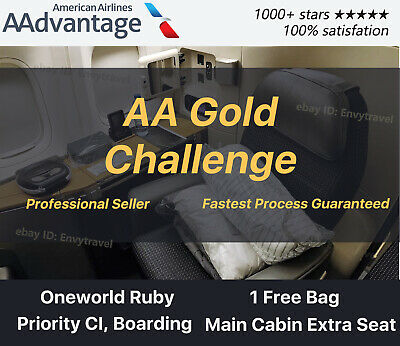 AAdvantage 3 Month Gold Challenge   Oneworld Ruby   Can extend to Jan 2021