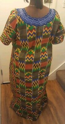 Beautiful African print Kente dress with Embroidery