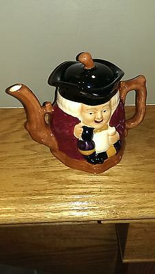 Vintage Staffordshire 2-Sided Toby Teapot - Hand Painted Shorter & Son - England