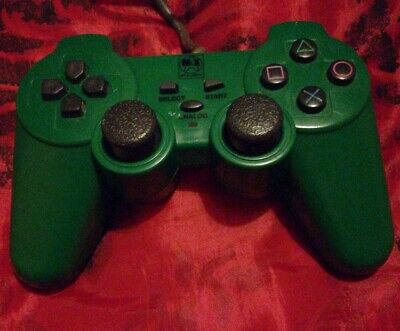 Solid Green Playstation ps2 Dualshock Controller VGC