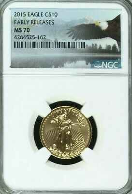 🇺🇸2015 1/4 Oz Gold American Eagle NGC MS70 Early Release🇺🇸