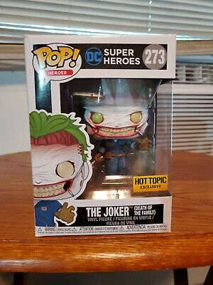 JOKER DEATH OF THE FAMILY Funko Pop DC Heroes #273 Hot Topic Exclusive J3