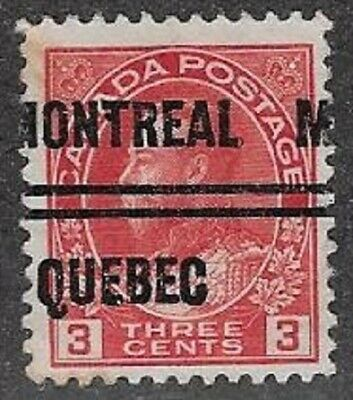 Canada City Precancel stamp - Montreal 4-109