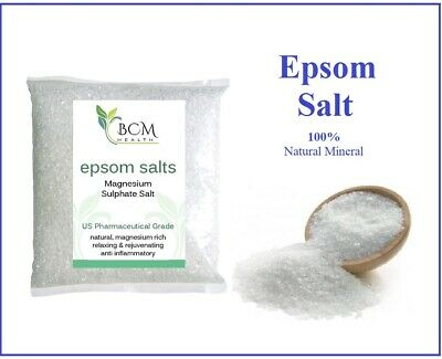 Epsom Salt Magnesium Sulphate Bath Salts Pharmaceutical Grade - Pure & Natural