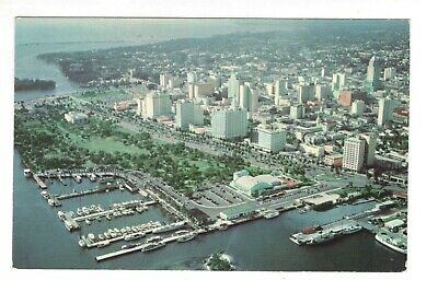 Aerial View of the City of Miami Florida Vintage Postcard AN26