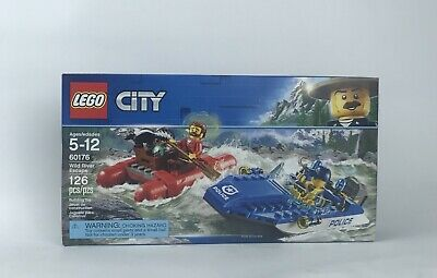 New Release For 2018! 60176 LEGO City Police Wild River Escape 126 Pieces Age 5