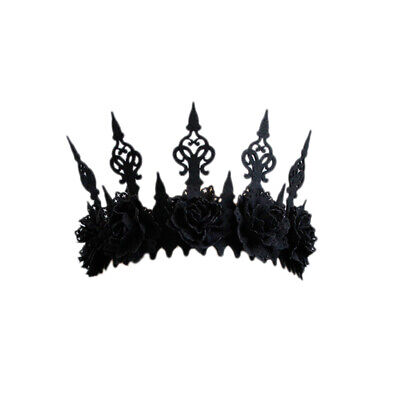 Black Flower Halloween Crown Party Hairband Gothic Wind Cosplay Headband He A1V1