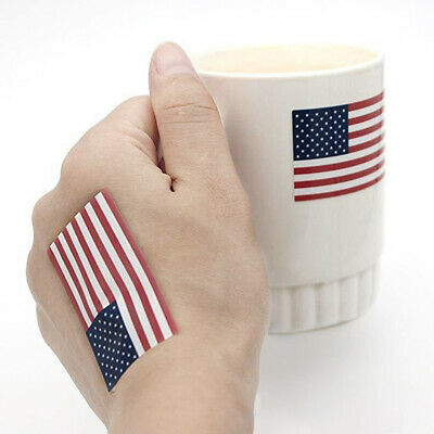 A Roll of 250Pcs American Flag Stickers Labels Parade Patriotic Fashion Stickers